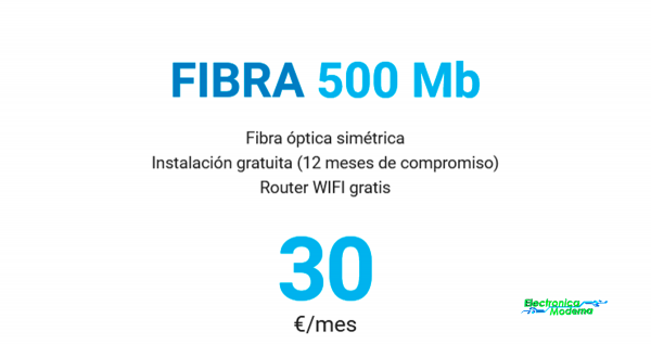 fibra 500mb electronica moderna coslada
